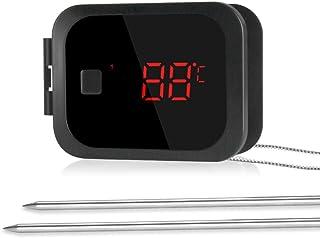 Inkbird Wireless Bluetooth BBQ termometro Barbecue Carne Termometro Timer + Acciaio Inox Sonda di temperatura per barbecue...
