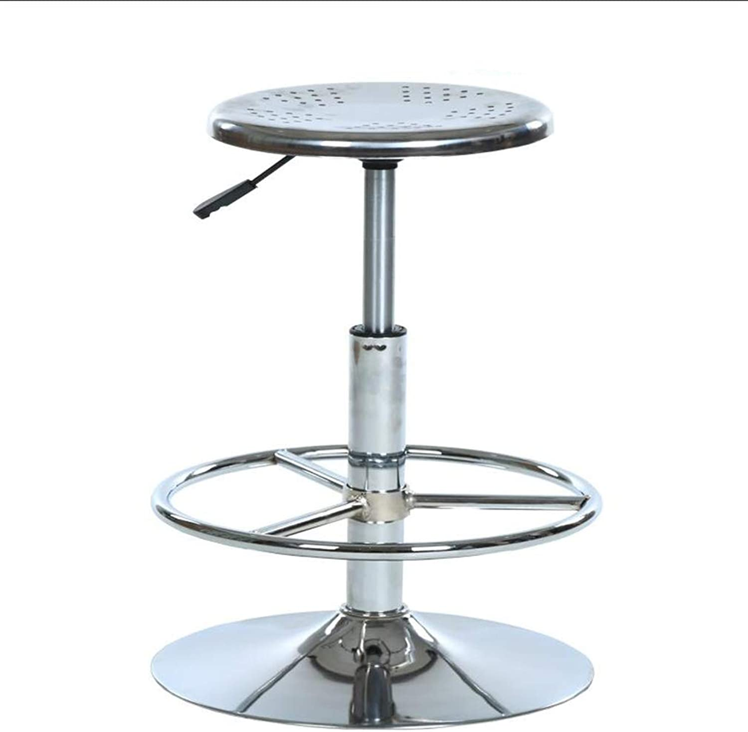 AGLZWY Bar Stool Multipurpose Metal Assembled Adjustable 360° redate Fashion High Stool, A Variety of Sizes (color   A, Size   32X45-55cm)