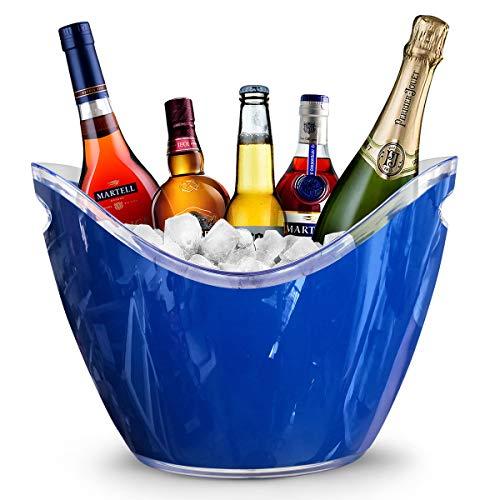 Yobansa 8L Portaghiaccio,Secchiello per Il Ghiaccio,Secchio di Ghiaccio,Secchiello ghiacci, Secchiello per Champagne,Secchiello per Il Ghiaccio Grande (Blue)