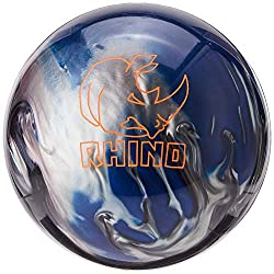Image: Brunswick Rhino Bowling Ball | pairing the R-16 reactive coverstock and a light bulb shaped core