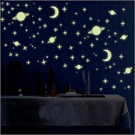 Glowing Night Stars 55 Plastic Luminous Fluorescent Sky Wall Sticker Radium Glow