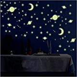 Wall1Ders Green Color Fluorescent Night Glow In The Dark Star Wall Sticker