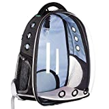 Lemonda Creative Transparent Pet Backpack Carrier Breathable Capsule Traveler Airline Approved for Cats