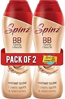 Spinz BB Talc 80 g, Pack of 2, Cream