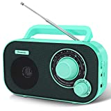 DreamSky Portable AM FM Radio with Great Reception, Battery Operated Radio AC Outlet Powered Radios with Headphone Jack, Handheld Transistor Radios Small Gifts for Seniors, Indoor Outdoor Emergency
