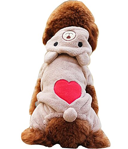 Blancho confortable Coton d'hiver pour chien pour animal domestique Vêtements (Lovely Ours, taille L)