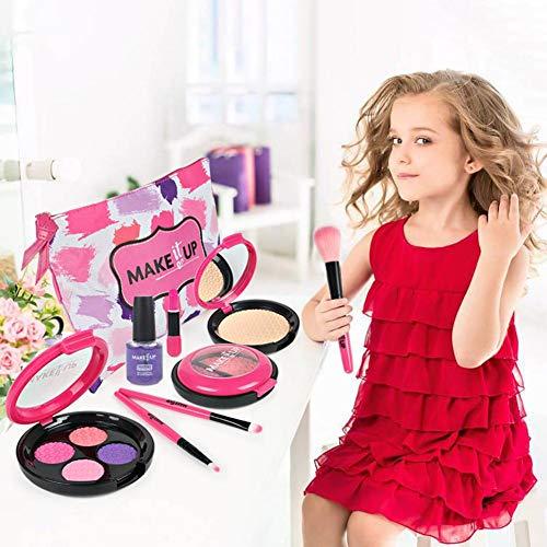 Sliveal 9 STÜCKE Kinderschminke Set, Echt Waschbar Kosmetik Sicher & Ungiftig Beauty Set, Mädchen...
