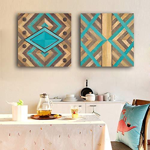 ganlanshu Nordisches minimalistisches grafisches geometrisches Plakat abstrakte Moderne skandinavische Leinwand,Rahmenlose Malerei,50X50cm