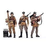 YaYashow Figuras Soldados 1/18, 3Piezas WW2 alemán Wehrmacht Figura de Acción con Arma, Figuras Militares Conjuntos de Juegos