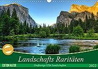 Landschafts Raritaeten - Grossartige USA Landschaften (Wandkalender 2022 DIN A3 quer): Unberuehrte und atemberaubende Landschaften der USA (Monatskalender, 14 Seiten )