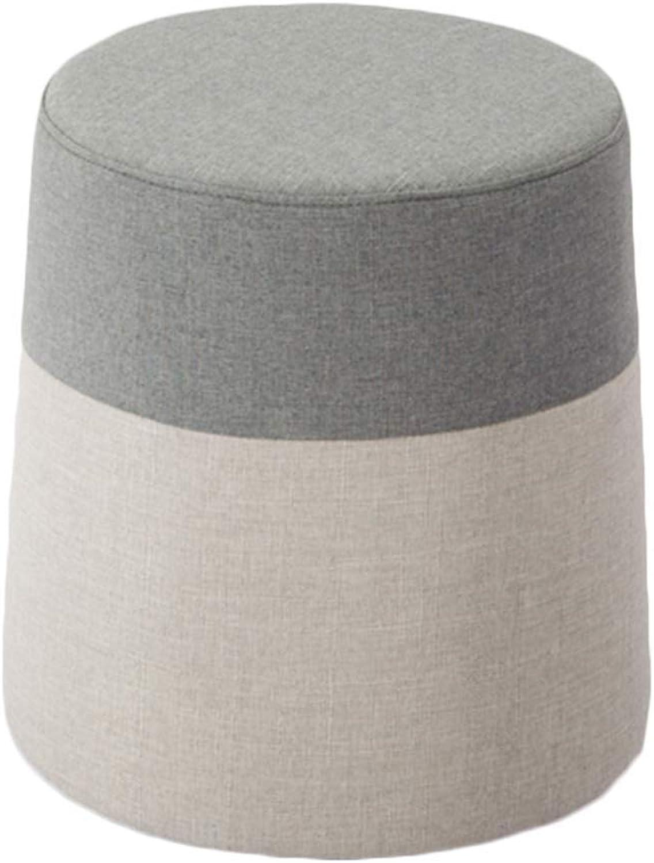 punto de venta YJLGRYF Taburete Taburete Taburete tapizado del Taburete del Maquillaje Taburete rojoondo del sofá del embarcadero Conveniente para los dormitorios de la Sala de EEstrella (14.9x14.9x15.7 Pulgadas) (Color   A)  punto de venta de la marca