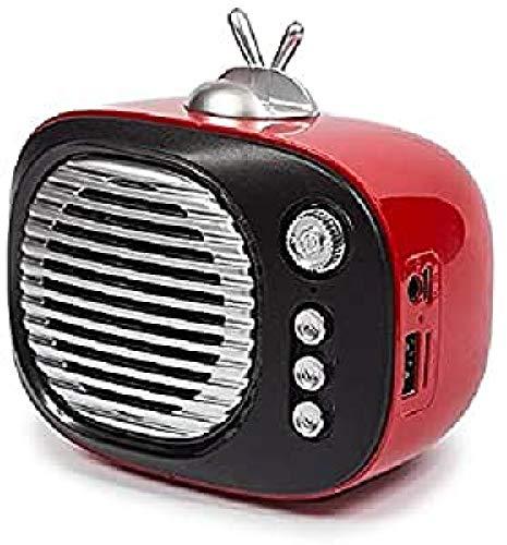 Kooltech 014859 Altavoz Bluetooth, Forma Tv Rojo