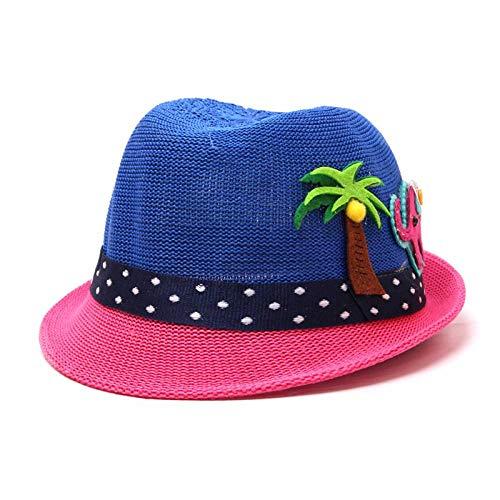 Bucket Hat Chapeau Noix De Coco Chapeau De Paille Chapeau D'Été pour Garçon Chapeaux De Seau pour Fille Casquettes De Panama Activités De Plein Air Casquette De Plage 48-52 Cm Bleu Royal