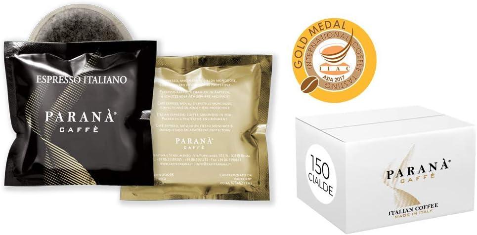 Café Paranà - 150 Cápsulas Monodosis compatibles con máquinas espresso E.S.E. 44 mm ESPRESSO ITALIANO (Gold Medal IIAC)