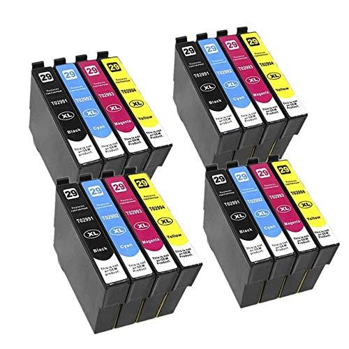 WXX Cartucho de Tinta T2991 29XL Compatible ASW for EPSON XP255 XP257 XP332 XP335 XP342 XP 235 245 247 255 257 332 335 342 (Color : 4set 16PK)