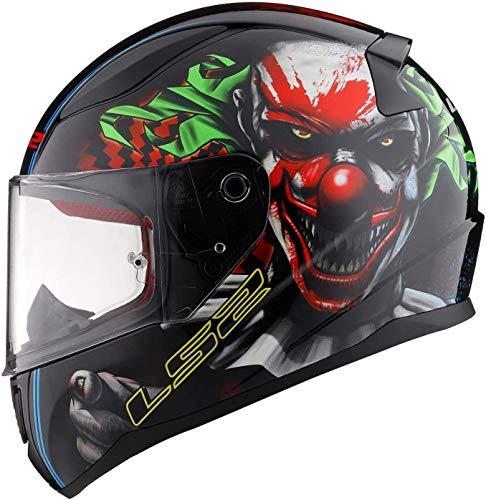 LS2 FF353 RAPID Casco integral para motocicleta Crash Rider Happy DREAMS que brilla en la oscuridad
