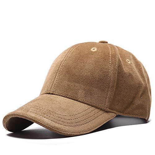 Herren Kappe Hut Herbst Und Winter Fashion Lady Männer Curved Peak Hat Baseball Caps-Camel_55-62Cm