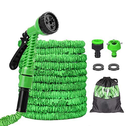 Tubo da Giardino, Flessibile Tubo da Giardino 75 FT 22.5m,Tubo Estensibile Irrigazione con 8 Funzioni di Spruzzo per Giardinaggio Lavaggio Auto o Casa