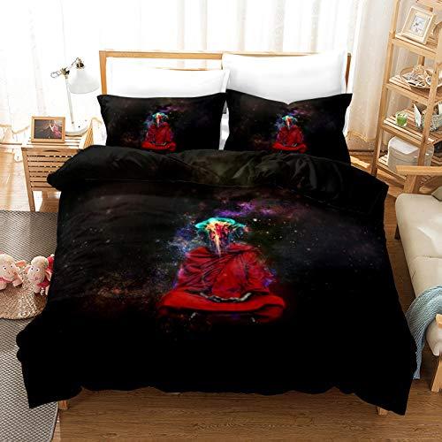 QXbecky Religious Apollo Easter Owl Bedding Soft Microfiber Quilt Cover Pillowcase 3 Piece Set Double