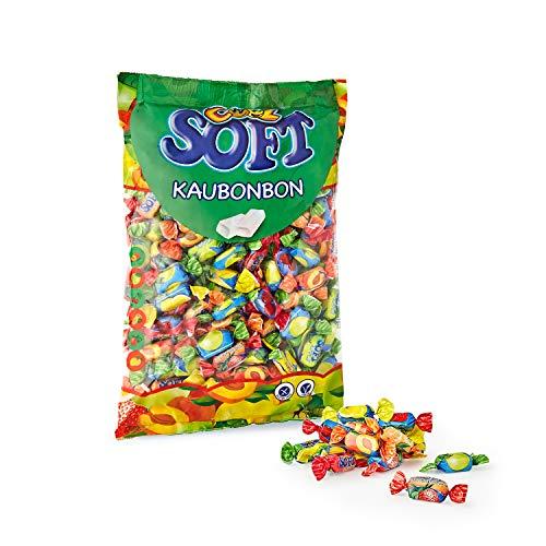 Cool Soft Kaubonbons   vegan und glutenfrei   im Beutel, 1er Pack (1 x 1 kg), 75100