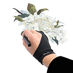 Work for both hands - Huion Artist Glove with two fingers; The package includes one unit of glove which can be used on both hand, free size; 20cm in length, 8cm in width. Anti-fouling design - It can prevent smudges from your hand on a Graphic Tablet...