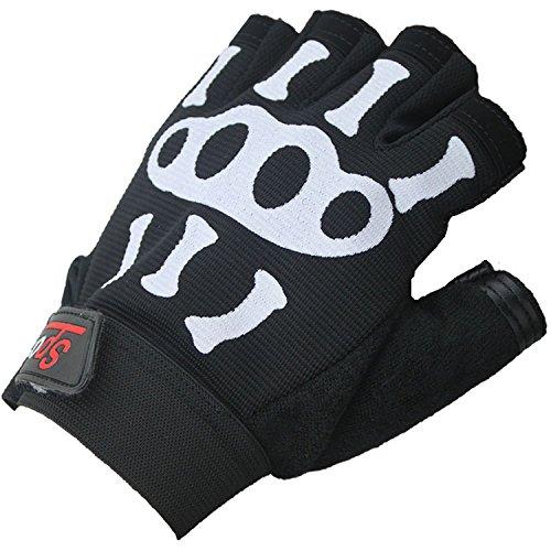 Unisexe Gants de Sport Gym Gants Demi-Doigts de Cyclisme Respirant Antidérapant Mitaines sans Doigts Antichoc pour Équitation Moto Vélo Camping Randonnée Escalade Fitness Gloves de Protection UV Eté