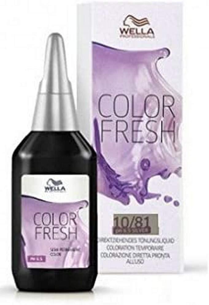 Wella Tinte Color Fresh 10/81-2 Recipientes de 75 ml - Total: 150 ml