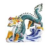NYKK Escultura Decorativa Dragón Estatua Zodiaco Feng Shui Afortunado decoración de cerámica artesanía hogar Sala de Estar decoración de Oficina atractando Riqueza Regalo Decoración Escritorio
