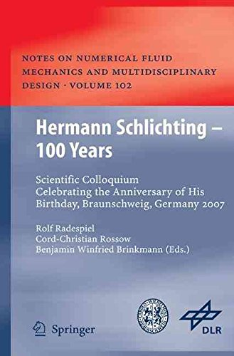 [(Hermann Schlichting - 100 Years : Scientific Colloquium Celebrating the Anniversary of His Birthday, Braunschweig, Germany 2007)] [Edited by Rolf Radespiel ] published on (April, 2009)