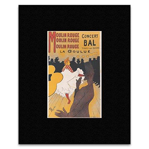 Stick It On Your Wall Mini-Poster, Motiv: Henri Toulouse-LUE, Mouline Rouge: La Goulue 1891, 27 x 16,6 cm