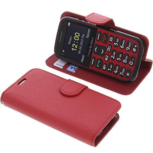 Tasche für Doro Primo 366 Book Style rot Schutz Hülle Buch