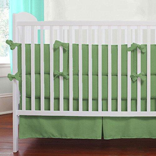 Unisex Nursery Baby Bedding Crib Skirt Solid Pattern 500 TC Egyptian Cotton (Moss,Crib)