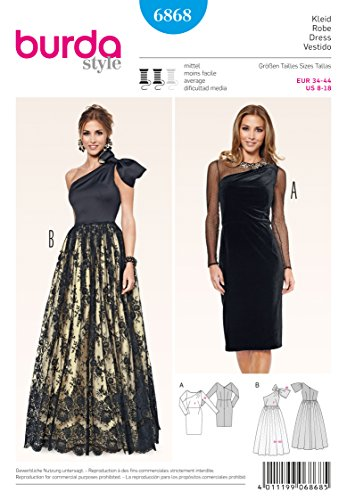 Burda Schnittmuster Kleid 6868