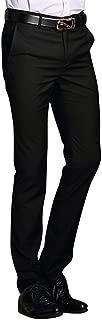 MOGU Mens Slim Fit Flat Front Pant