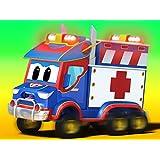 春:キャンピングカーと救急車/ゴミ収集車のレース!/スプリングトラック、ベイビーを救う!/ゴミ収集車、川に行く
