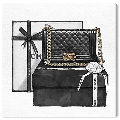 The Oliver Gal Artist Co. Fashion and Glam Wall Art Canvas Prints 'Gifted Beauty' Home Décor, 12' x 12', Black, White