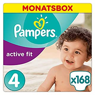 Pampers Active Fit Windeln Monatsbox, Größe 5+, 13-25kg, 124 Windeln (B00AFA3XEK) | Amazon price tracker / tracking, Amazon price history charts, Amazon price watches, Amazon price drop alerts