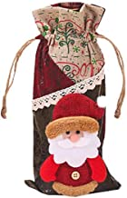 Kiar Merry Christmas Santa Wine Bottle Bag Cover Xmas Festival Party Table Decor Gift Tree Before Nightmare White who DVD for Doctor Stole Outfit Carol Vacation Bag Bad July
