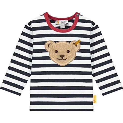 Steiff Baby-Jungen T-Shirt Langarm, Navy, 062