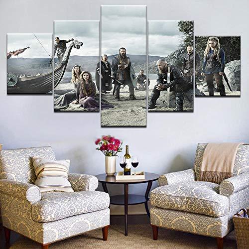 WHOOPS 5 Stück Tv Serie Viking Poster Moderne Dekoration Wandbild Leinwand Kunst Hd Print Leinwand Wand Modulare Bild 30 * 40 * 2 30 * 60 * 2 30 * 80 cm Rahmenlose