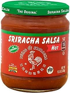 Huy Fong Sriracha Salsa | Fresh Chunky Hot | 15 Calories Per Serving | 8 Pack (15.5 ounces Per Jar)