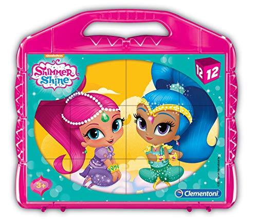 Clementoni 41187Shimmer y Shine–Baby Puzzle Cubo, 12piezas , color/modelo surtido