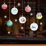Qtydmdh Dessin Animé Boule De Noël Autocollant Mural Salon Chambre Des Enfants...