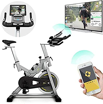 Bluefin Fitness TOUR SP Bike | Home Gym Equipment | Exercise Bike Machine | Kinomap | Live Video Streaming | Video Coaching & Training | Bluetooth | Smartphone App