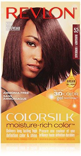 Revlon Colorsilk Moisture Rich Hair Color, Burgundy No. 52, 1 Count