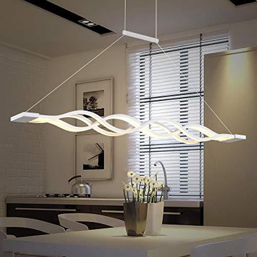 Nowoczesna dekoracja domu żyrandol LED oświetlenie wewnętrzne biały falowany sufit żyrandol do jadalni żyrandol oświetlenie