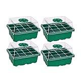 QYHSS Bandejas de Semillas, Semillero Germinación Invernadero, Set con Tinas de Agua, Tapas de Invernadero y Macetas, para el Cultivo de Plantas en Interiores