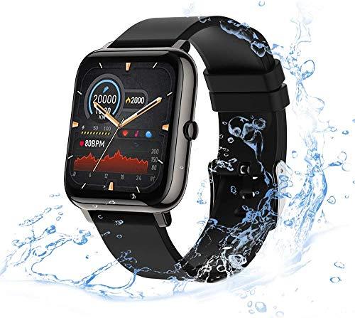 Smartwatch para Mujer Hombre, Reloj Inteligente de Fitness con Contador de Pasos, Smart Watch con Monitor de Sueño Contador de Caloría Pulsómetros
