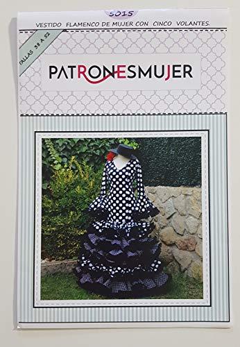 Patrón de costura vestido flamenca Largo para hacerlo tú misma. Tutorial en vídeo para ayudarte a realizarlo. Talla 38 a la 52. Patrón multitalla en papel.