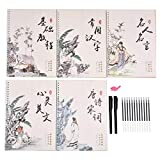 5pcs Regular Script Copybook Chinese Calligraphy Book of Tang Poetry, Chinese Characters, Chinese Saying, Chinese Prose